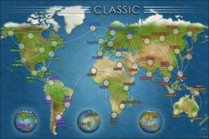 Conquer Club Classic Risk Game Map
