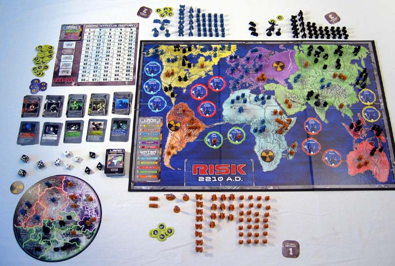 Board game risk 2210 ad