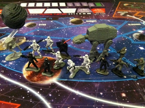 risk star wars original trilogy board and pieces